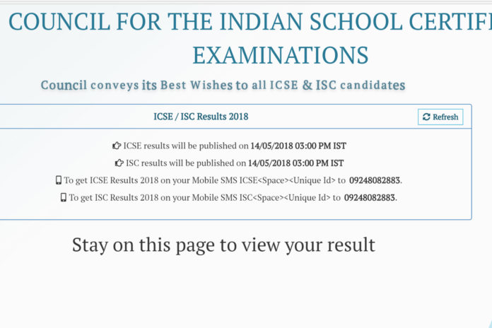 ICSE Class 10, ISC Class 12 Results 2018 to be released today at cisce.org