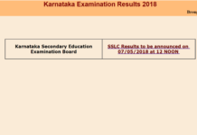 Karnataka 10th Class Results School, Name Wise released at SSLC board at Karresults.nic.in