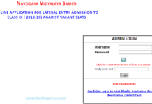 Navodaya 9th Class Entrance Test Admit Card 2018 released nvshq.org
