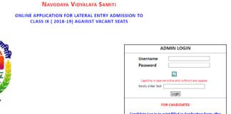 Navodaya 9th Class Entrance Test Admit Card 2018 released nvshq.org