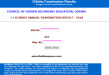 Odisha CHSE Result 2018 Plus Two Science, Arts, Commerce Result released
