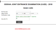 Odisha JEE Result, Rank Card 2018 Declared at ojee.nic.in