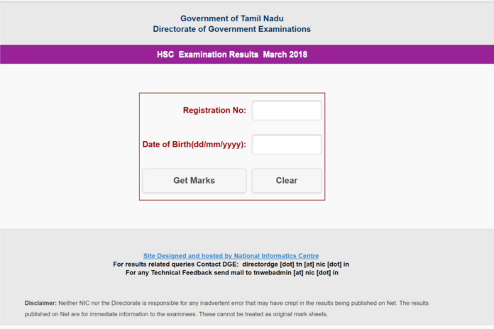 TN HSC Plus Two Results declared, Check Tamil Nadu +2 Results @tnresults.nic.in