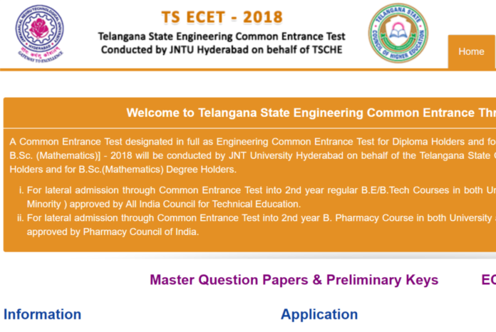 TS ECET results, rank cards released at ecet.tsche.ac.in