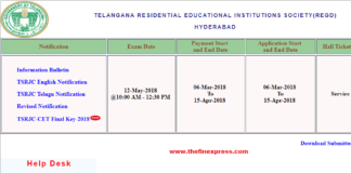 TSRJC CET 2018 Final Answer Key released at tsrjdc.cgg.gov.in