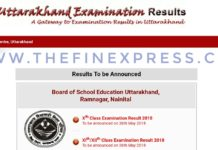 Uttarakhand UBSE 10th,12th Results on uaresults.nic.in