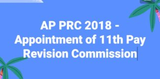 AP PRC 2018 - Appointment of 11th Pay Revision Commission