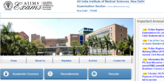 AIIMS MBBS Result 2018 to be declared today at aiimsexams.org