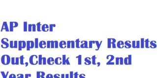 AP Inter Supplementary Results Out,Check 1st, 2nd Year Results