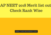 AP NEET 2018 Merit list out, Check Rank Wise