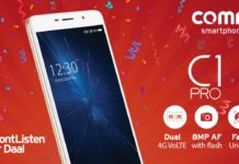 Comio C1 Pro With Face Unlock Launched in India; Know Price, Specifications