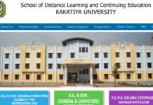 Kakatiya University SDLCE UG Degree 1st, 2nd, 3rd Year Exams Time Table