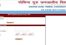 Rajasthan BSTC Seat Allotment Results Download at bstcggtu2018.com