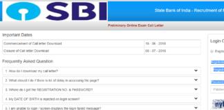 SBI PO Prelim admit card Download at ibps.sifyitest.com