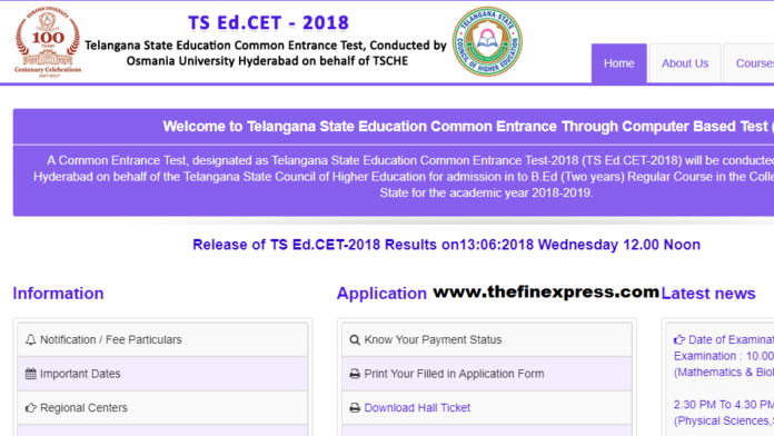 TS EDCET Results Download Rank Cards at edcet.tsche.ac.in