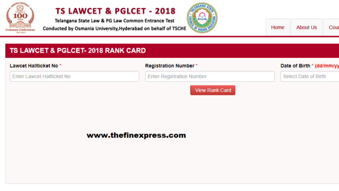 TS LAWCET, PGLCET Results 2018 released at Manabadi