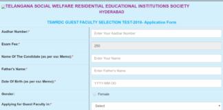 TSWREIS Women Guest Faculty Application released @www.tswreis.in