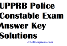 UPPRB Police Constable Exam Answer Key Solutions